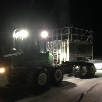 John Deere 810D Ice Road Builder