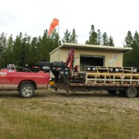 One Ton c-w Picker and Triaxle Trailer-2